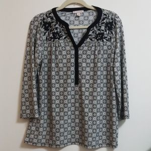 Dress Barn Embroidered Blouse